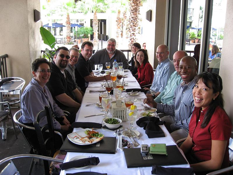 Tampa Tribune farewell lunch for Dave and Russell