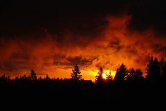 Sunset Flare (Gigapic) Tags: sunset usa hot oregon landscape landscapes unitedstates cloudy stormy sharp raining clearing nops photofaceoffwinner pfogold