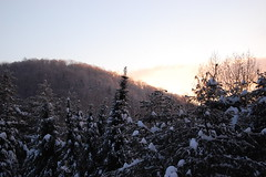 2/14/08 (Bliss County) Tags: morning winter snow sunrise vermont glow corinth