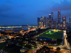 Singapore skyline - F1 on the Marina