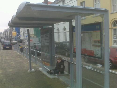 Ik ga even op de tram wachten