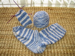 A sample sock and the second