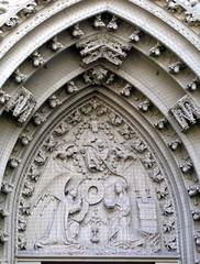 Relief an der Marienkapelle (at_peter_mayr) Tags: art church architecture reisen kirche architektur wrzburg marienkapelle