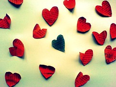 I'm always blue without you.... (Her life in pictures) Tags: 3 news love paper hearts newspaper heart picnik