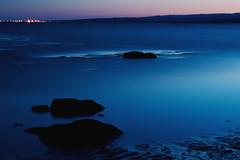The big ocean (Sbjrg - Ingibjrg Hilmars) Tags: ocean longexposure blue beach night iceland rocks sland sjr steinar eyrarbakki bltt nturmynd diamondclassphotographer