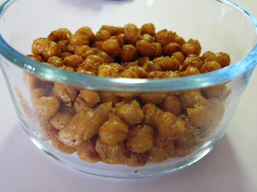 spicy chickpeas closeup