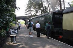 Wadebridge (Matthew Sylvester) Tags: west heritage station spam country railway can gloucestershire class steam southern driver locomotive passenger streamlined preserved engineer freight warwickshire gwr wadebridge 34007 platfor airsmoothed