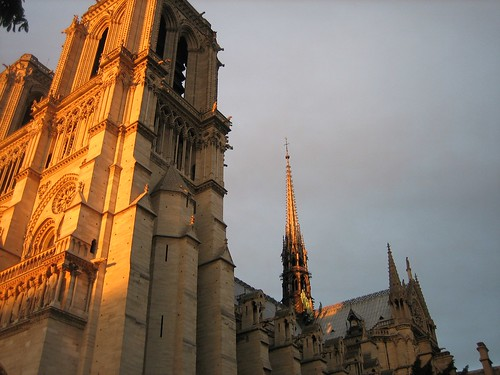 080528. sunset on notre dame.