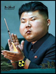 Little KIM and his WAR games (The PIX-JOCKEY (no comments, only views!)) Tags: boy portrait photoshop toys war little joke fake nuclear korea humour vip horror photomontage chop caricature aggressive atomic northkorea corea fotomontaggi robertorizzato kimyongun
