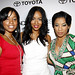 "(L-R) Mashonda, Alexis Phifer and Keyshia Cole pose for photos at Alexis' ""If Looks Could Kill"" party hosted by Toyota and Essence."