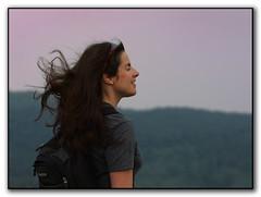 catching the breeze (csnyder103) Tags: summer happy evening colleen bailey freckles breeze blueridgeparkway ahhhh westernnorthcarolina samknob escapingheat blackbalsom