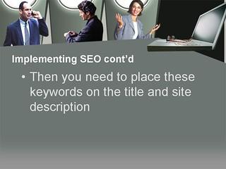 Internet Marketing Strategy Using Search Engine Optimization Slide16