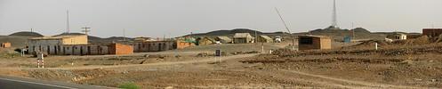 Road worker's camp near Xinxinxia, Xinjiang Province, China