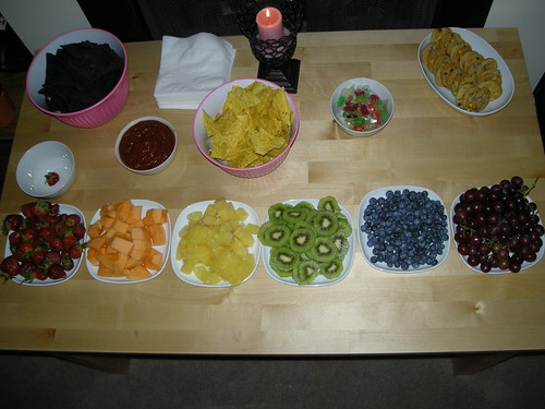 A rainbow of fruits...