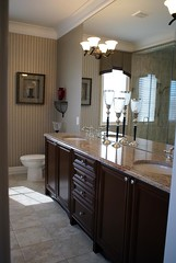 Model Home 4, Master Bedroom Bathroom  1/2 (Jim U) Tags: interior modelhome stouffville sony100 minolta20mm28 mattamyhomes