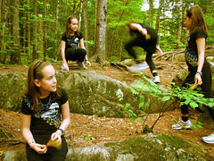 Playing in the forest (Nino H) Tags: canada nature girl forest double qubec montage clones cloned miss fille parc fort laurentides doncaster rebekka clonage aniela anick