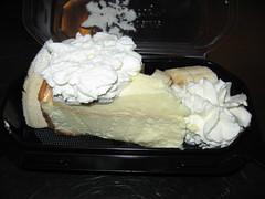 The Cheesecake Factory: Fresh banana cream cheesecake (uncovered)