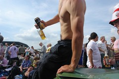 Our beer and cider man - two (CharlesFred) Tags: muscly shirtless man male arm muscular strong strength alpha epsom beautifulman thederby sexyman alphamale epsomdowns derby2008 mooieman muscledarm