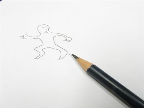 Huyendo de mi lápiz