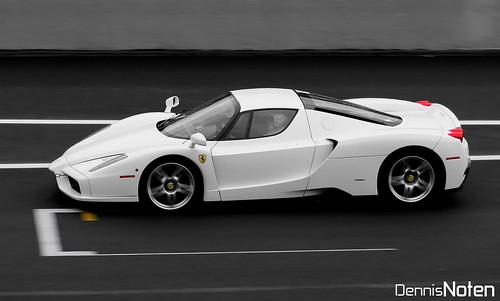 Ferrari Enzo. White Ferrari Enzo.