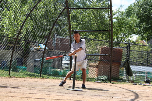 Dad batting