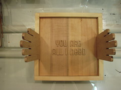 HELPING HANDS - YOU ARE ALL I NEED ([ PROCESS ]) Tags: show wood square typography foot hands gallery all you exhibition type need process helping apw cubic i are