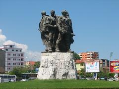 Communist monument in Shkodr (Blaz Purnat) Tags: statue communism albania albanien albanija albanie shkodra albanya shqipria albnia arnavutluk shkodr albani albnia albnie   komunizem  albaania albaniya albnsko