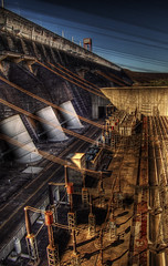 Margem esquerda (Nilton Ramos Quoirin) Tags: brazil plant power dam paraguay hdr leftbank itaipu hydroelectric penstock fozdoiguau gwain