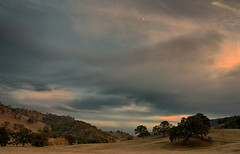 clouds and moon over round valley (Marc Crumpler (Ilikethenight)) Tags: california trees sunset usa clouds canon landscape hiking trails hills bayarea eastbay ebrpd roundvalley contracostacounty eastbayregionalparkdistrict tamron1750 sfchronicle96hours 40d mywinners ebparks canon40d betterthangood natureselegantshots