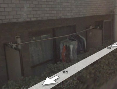 My underwear on Google Maps