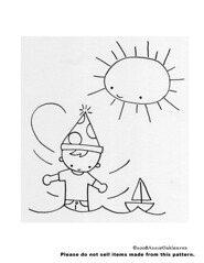 another little freebie (annieoakleaves) Tags: birthday sun sailboat boat pattern sailing embroidery free sew stitching partyhat boay handsewing annieoakleaves