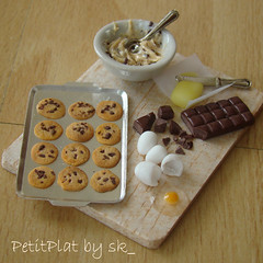 Miniature food for Dollhouse - Cookie Preparation Board!
