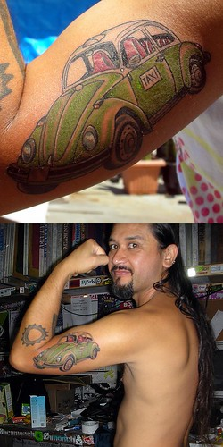 Mexico City Volkswagen Taxi Libre tattoo by Surge at 7 Seas Tattoo San ...
