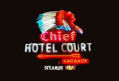 Chief Hotel Court Neon (Nutch Bicer) Tags: vegas neon lasvegas indian neonsign neonsignmuseum