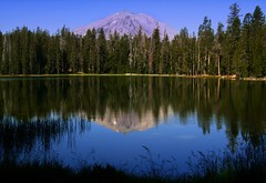 Lassen Peak from Hat Lake (Matt Granz Photography) Tags: reflection nature landscape mount coolpix p4 lassenpeak lassentreesvolcanolakehat lakecalifornianikon
