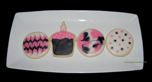 pink and black birthday cookies 3rd photo