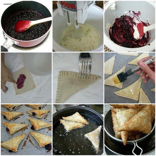 Fried Blueberry Cream Cheese Pies