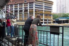 Mayor Daley and Margaret Frisbie (chicagogeek) Tags: construction trumptower chicagoriver cameramen museumopening mayordaley richarddaley margaretfrisbie