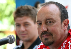 Rafa Benitez in conferenza stampa