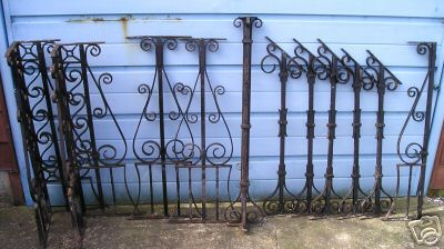 wrought iron balustrading