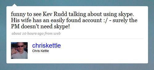 Kev Rudd uses Skype by PhilWolff.