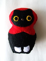 Mautryoshka! (Miss Thundercat) Tags: black cute halloween cat cosplay handmade felt plush kawaii kdd magnet matryoshka russiannestingdoll kittydarknessdesigns