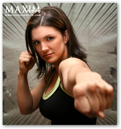 Gina Carano in Fighting Stance