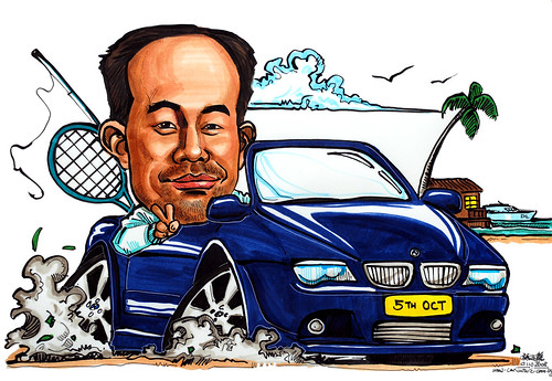 Car caricature BMW 6 series