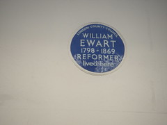 Photo of William Ewart blue plaque