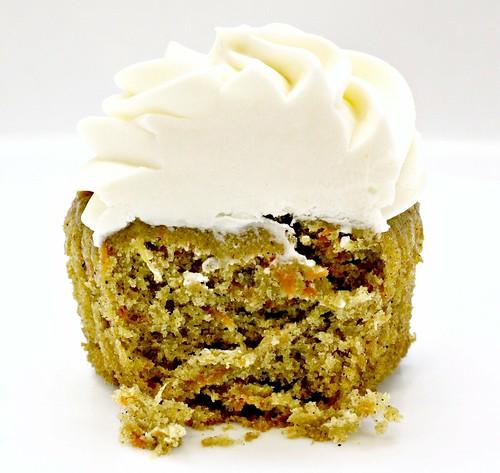 Carrot cupcake - inside