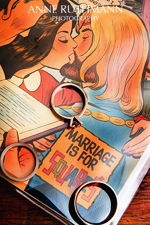 Comic Book Wedding Rings