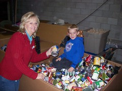 Sorting Canned Food (Boise Rescue Mission) Tags: thanksgiving food homeless christian idaho boise help volunteer serve reliogion