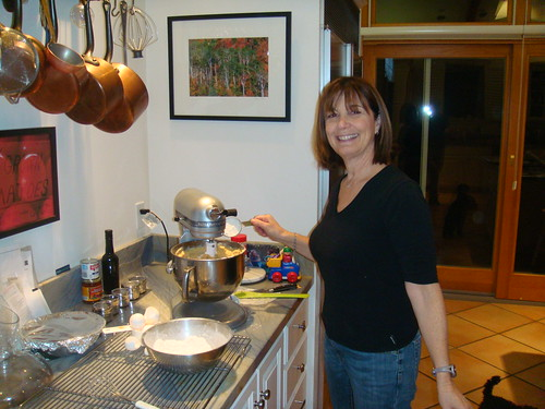 Linda makes the batter