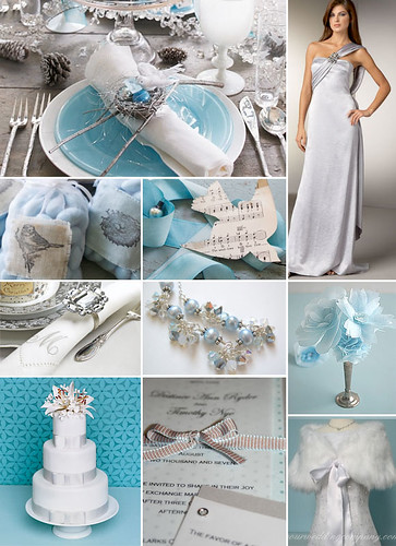 As for inspiration the google image search results for blue winter wedding